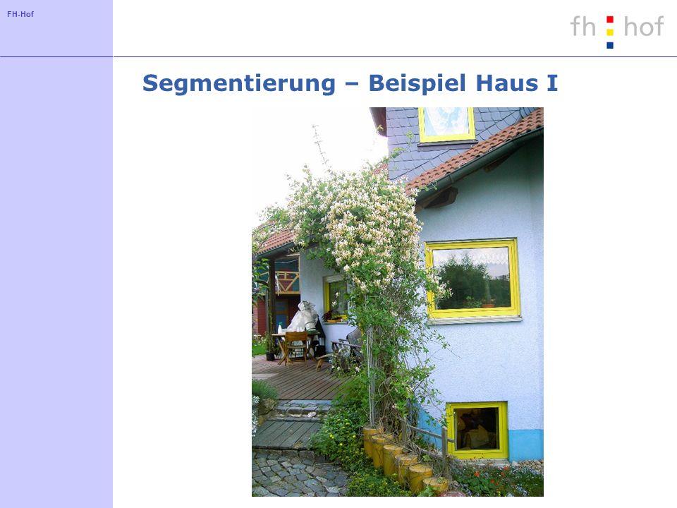 FH-Hof Segmentierung – Beispiel Haus I