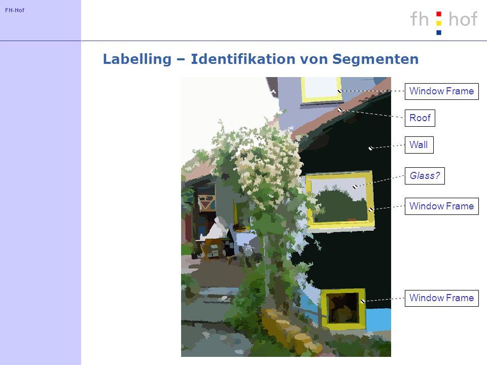FH-Hof Labelling – Identifikation von Segmenten Window Frame WallRoofGlass?