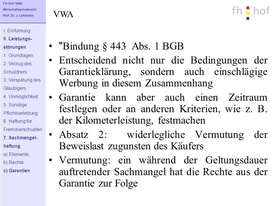 Bindung § 443 Abs.