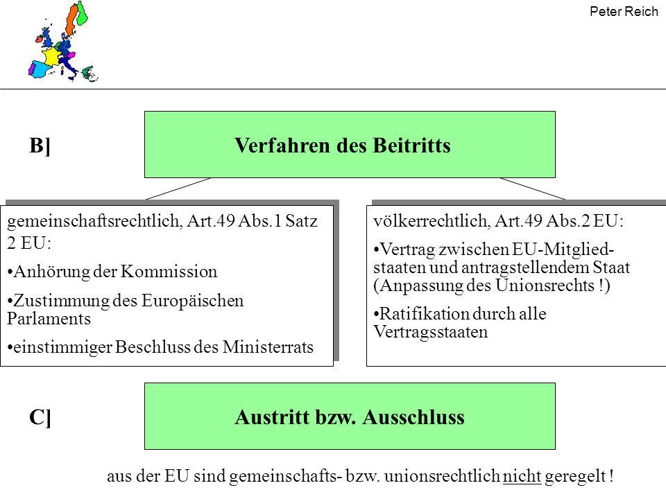 Peter Reich Vertrag von Nizza* - für die Erweiterung wichtige institutionelle Änderungen - Kommission Ab 2005 Verzicht der Großen auf 2.