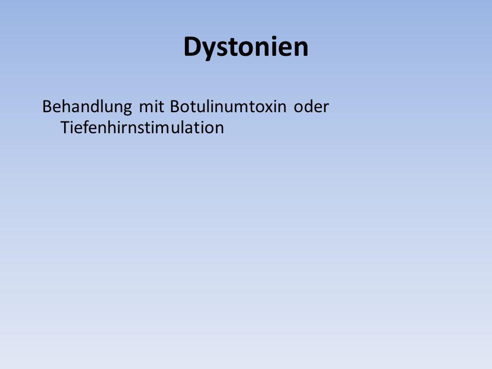 Dystonien Behandlung mit Botulinumtoxin oder Tiefenhirnstimulation