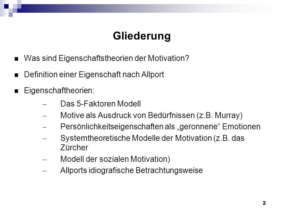 13 Das Zürcher Modell der sozialen Motivation Beispiel: der Sicherheits-Regelkreis des Zürcher Modells