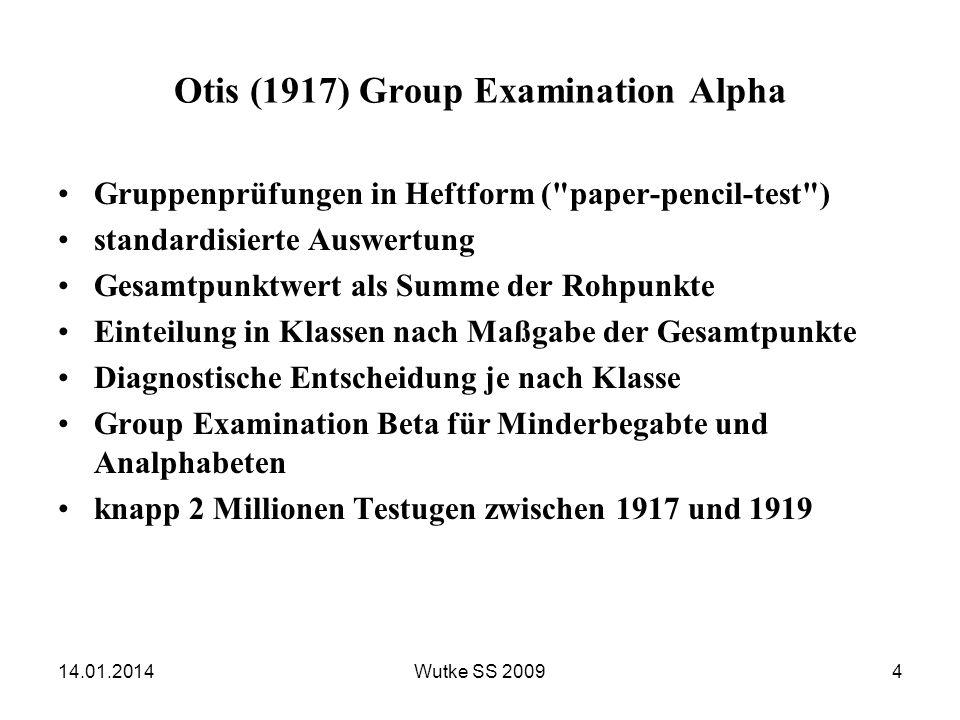 Intelligenzmodell von Wechsler 14.01.201415Wutke SS 2009