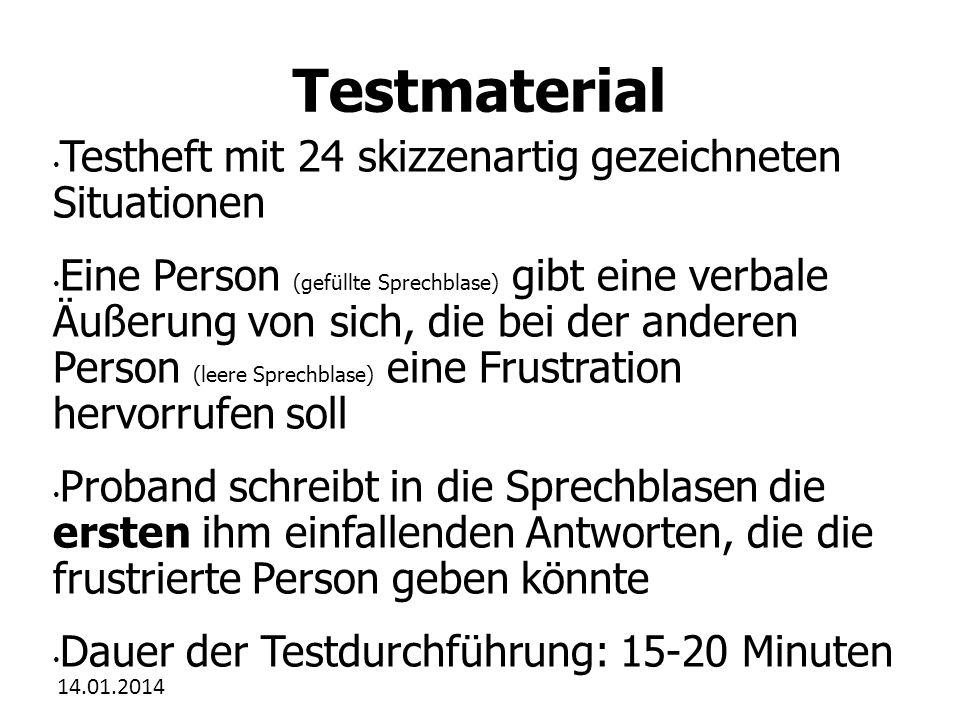 14.01.2014 Zum Test Der Picture Frustration Test von S.