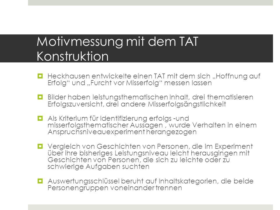 Inhaltskategorien des Auswertungsschlüssels Inhaltskategorien des Auswertungsschlüssels des Heckhausen-TAT.