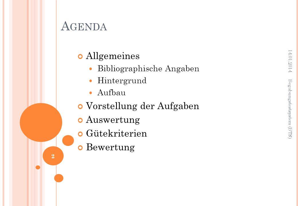 Name: Begabungstestsystem (BTS) Autor: Prof.Dr. Wolfgang Horn Auflage: 1.