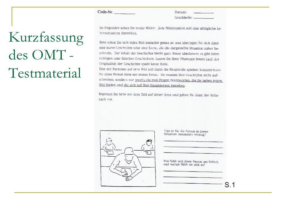 Kurzfassung des OMT - Testmaterial S.1