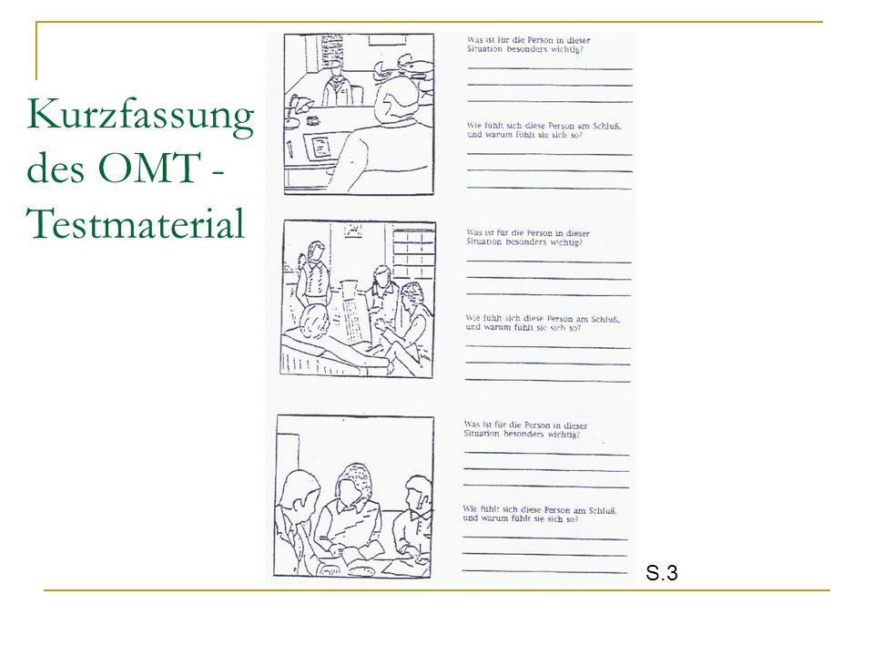 Kurzfassung des OMT - Testmaterial S.3