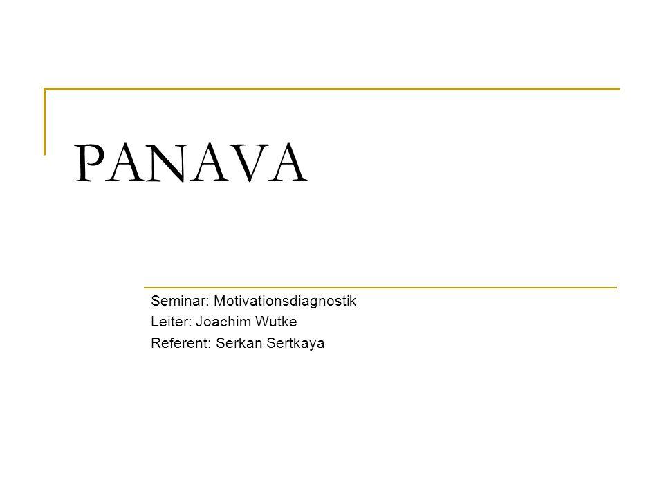 2 Gliederung Einführende Überlegungen PANAVA: Ziel und Dimensionen PANAVA: das Verfahren Skaleneigenschaften Validitätsbefunde Anwendungsbeispiele Untersuchung bei Felskletterern Ergebnisse und Interpretation Fazit