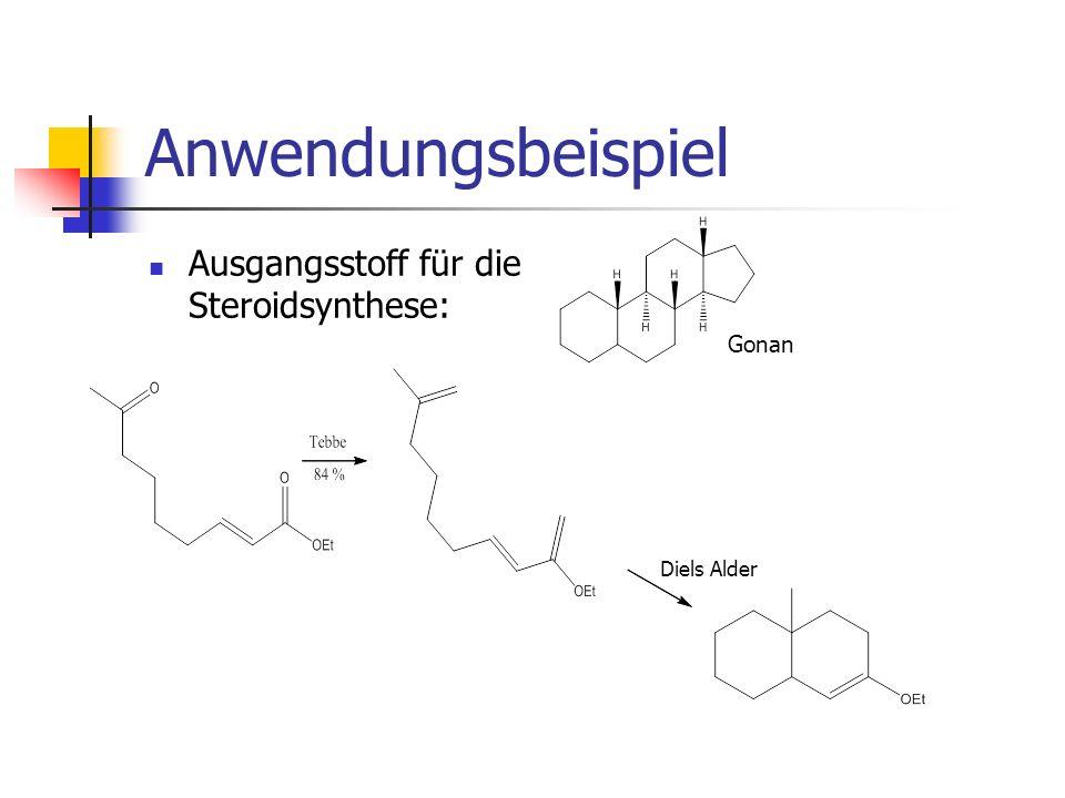 Anwendungsbeispiel Ausgangsstoff für die Steroidsynthese: Gonan Diels Alder
