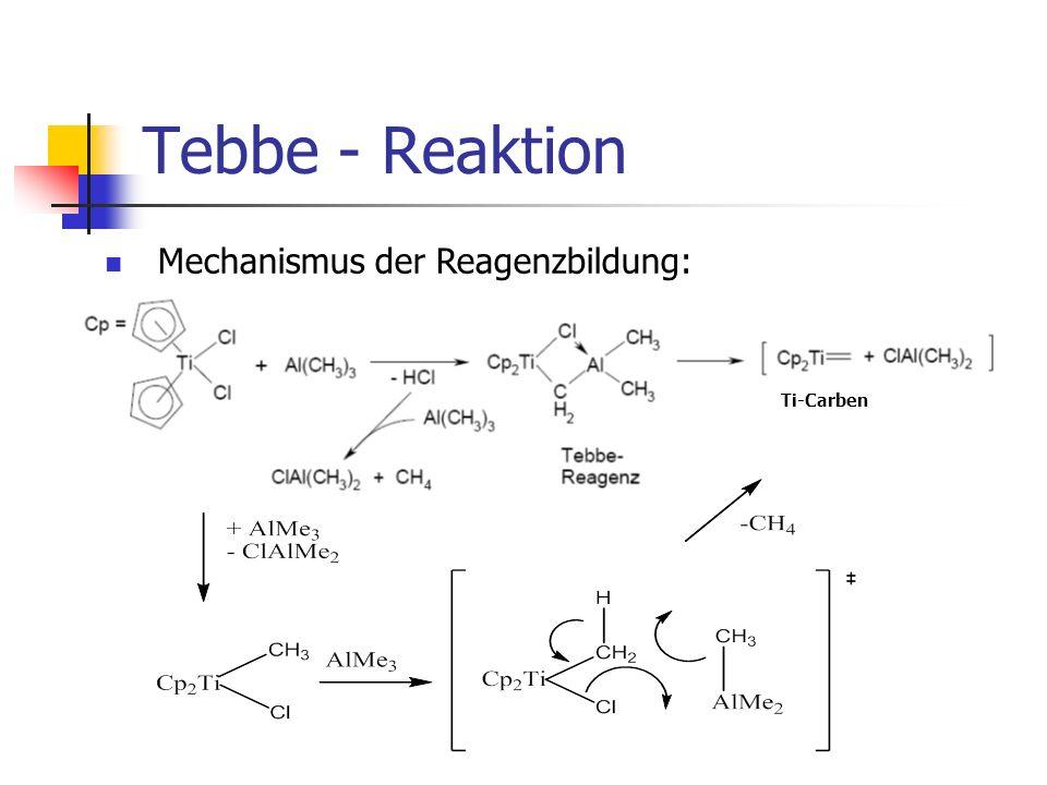Tebbe - Reaktion Ti-Carben Mechanismus der Reagenzbildung: