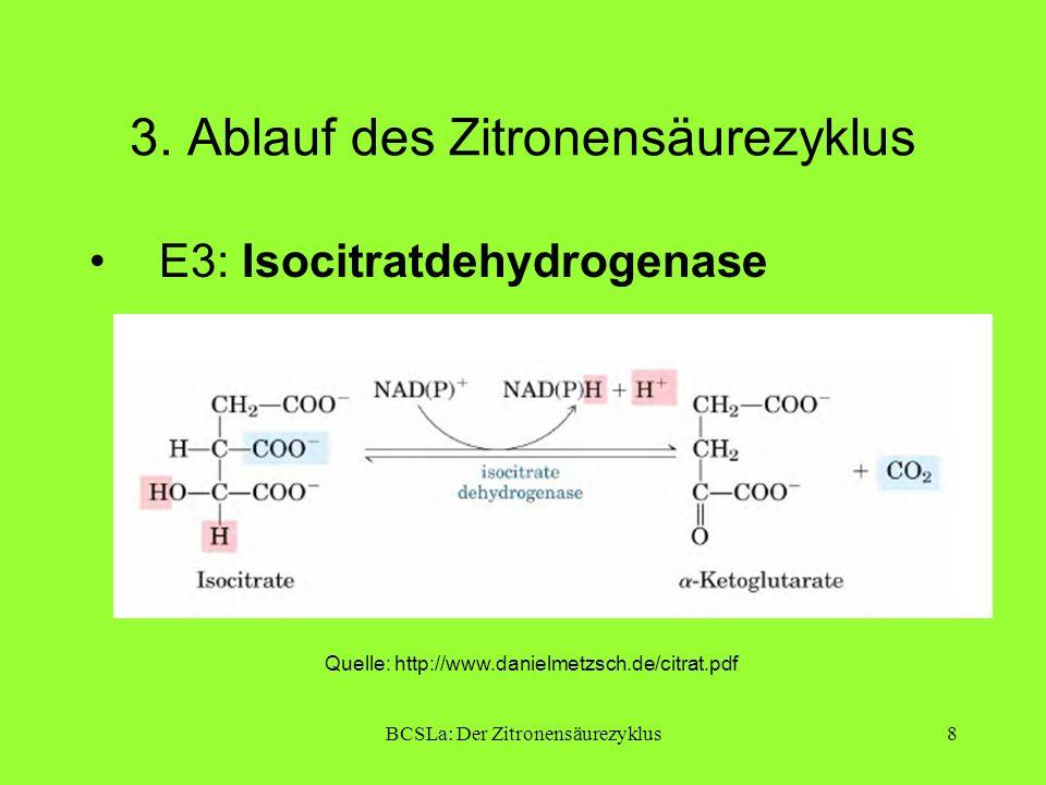 BCSLa: Der Zitronensäurezyklus9 3.