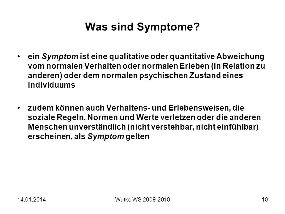 Was sind Symptome.