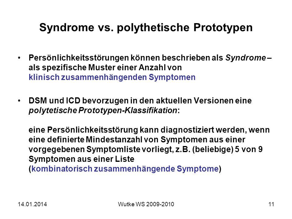 Syndrome vs.