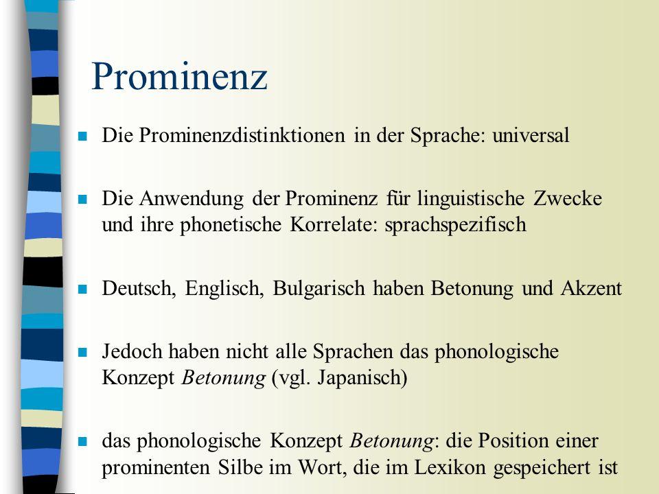 Phonetik der Prominenz