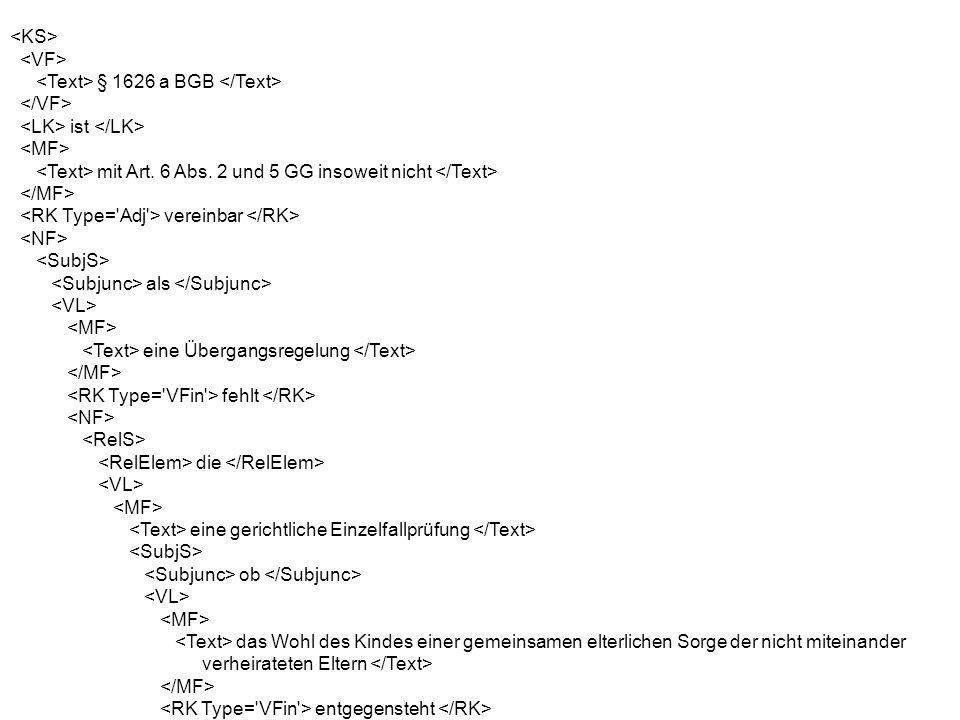 § 1626 a BGB ist mit Art. 6 Abs.