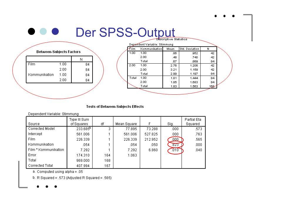 Der SPSS-Output