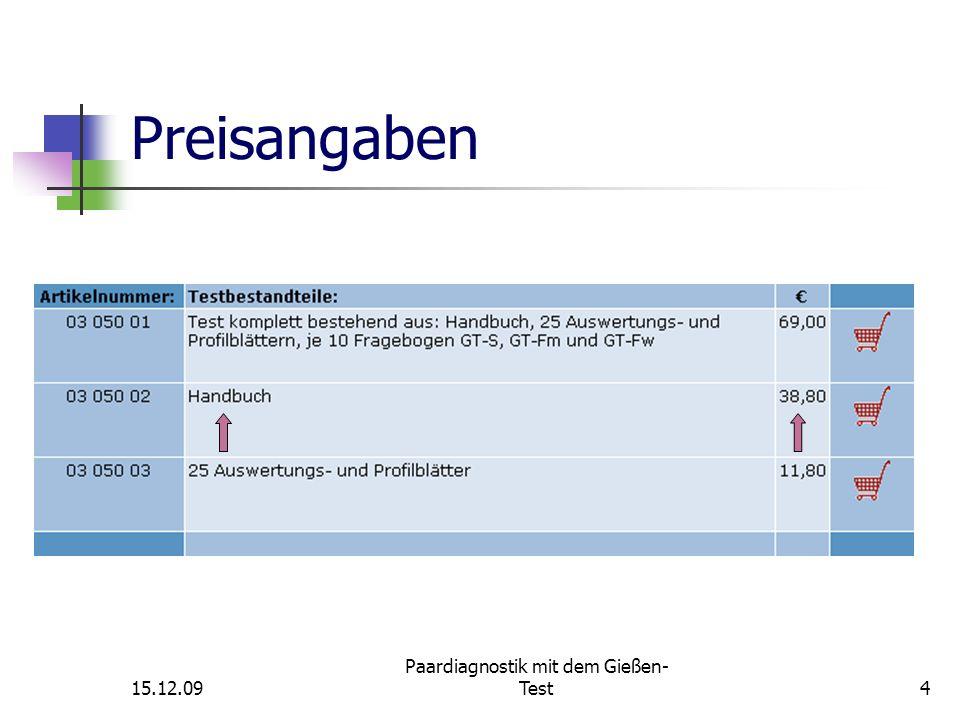 15.12.09 Paardiagnostik mit dem Gießen- Test5 Gruppendiagnostik 1.