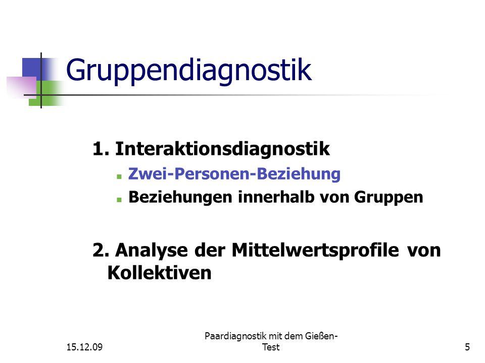 Auswertung 15.12.09 Paardiagnostik mit dem Gießen- Test26