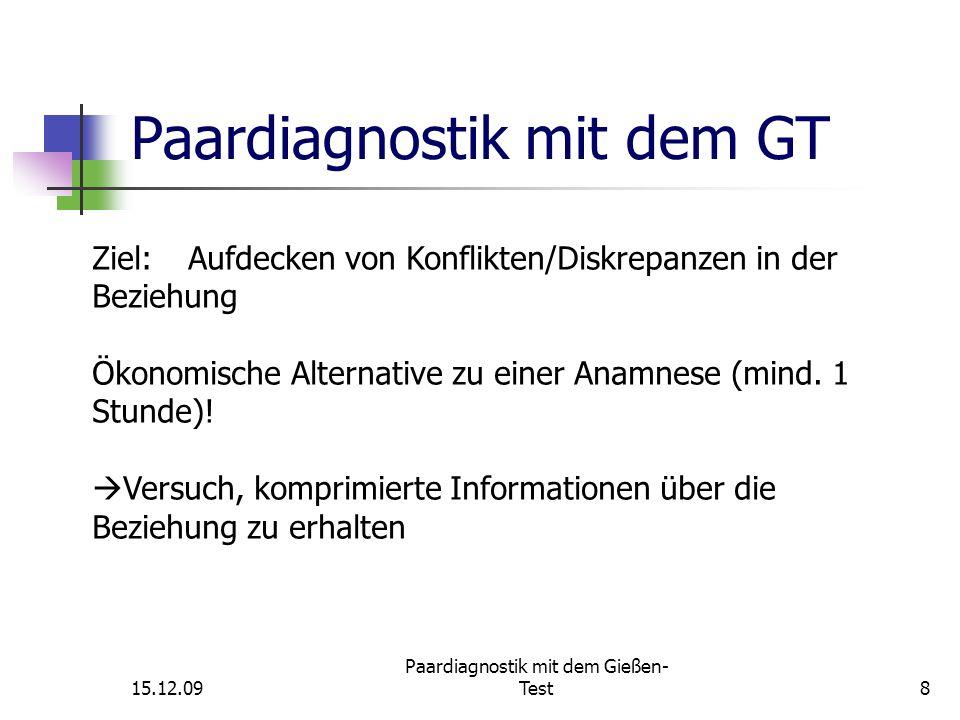 15.12.09 Paardiagnostik mit dem Gießen- Test19 Skalen/Skalenbildung