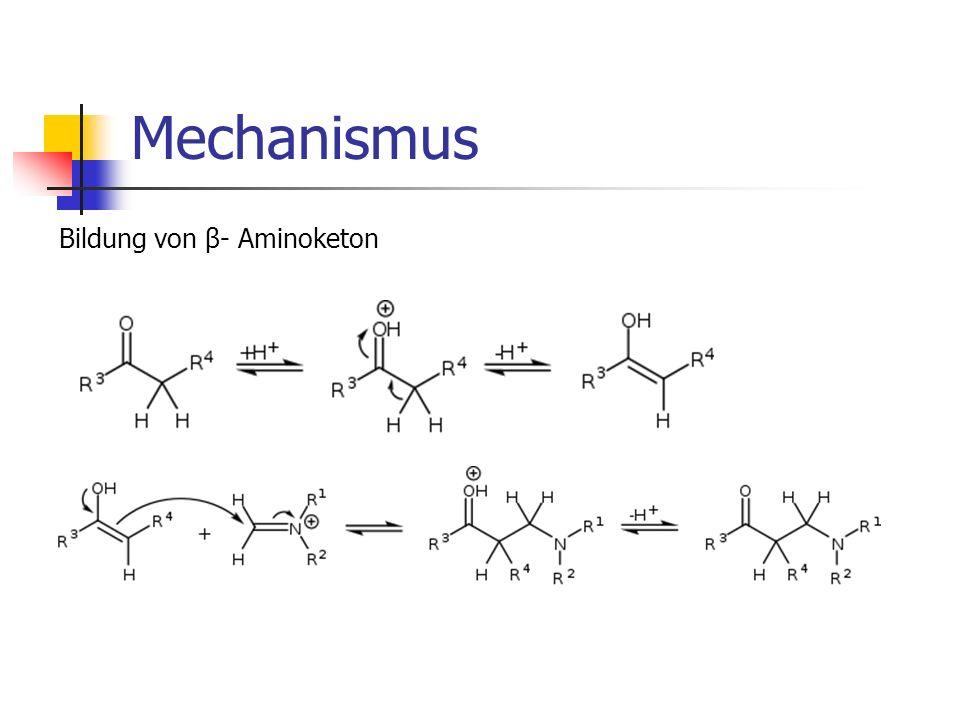 Mechanismus Bildung von β- Aminoketon