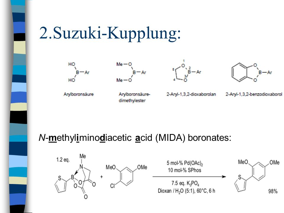 N-methyliminodiacetic acid (MIDA) boronates: