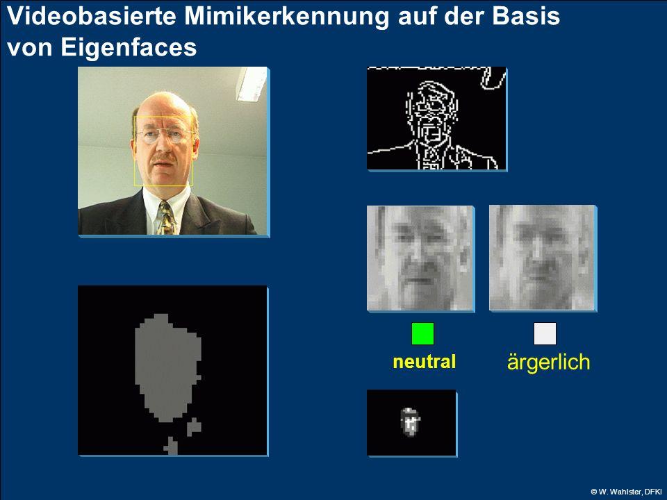 © W. Wahlster, DFKI neutral Videobasierte Mimikerkennung auf der Basis von Eigenfaces ärgerlich