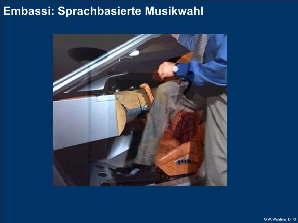 © W. Wahlster, DFKI Embassi: Sprachbasierte Musikwahl