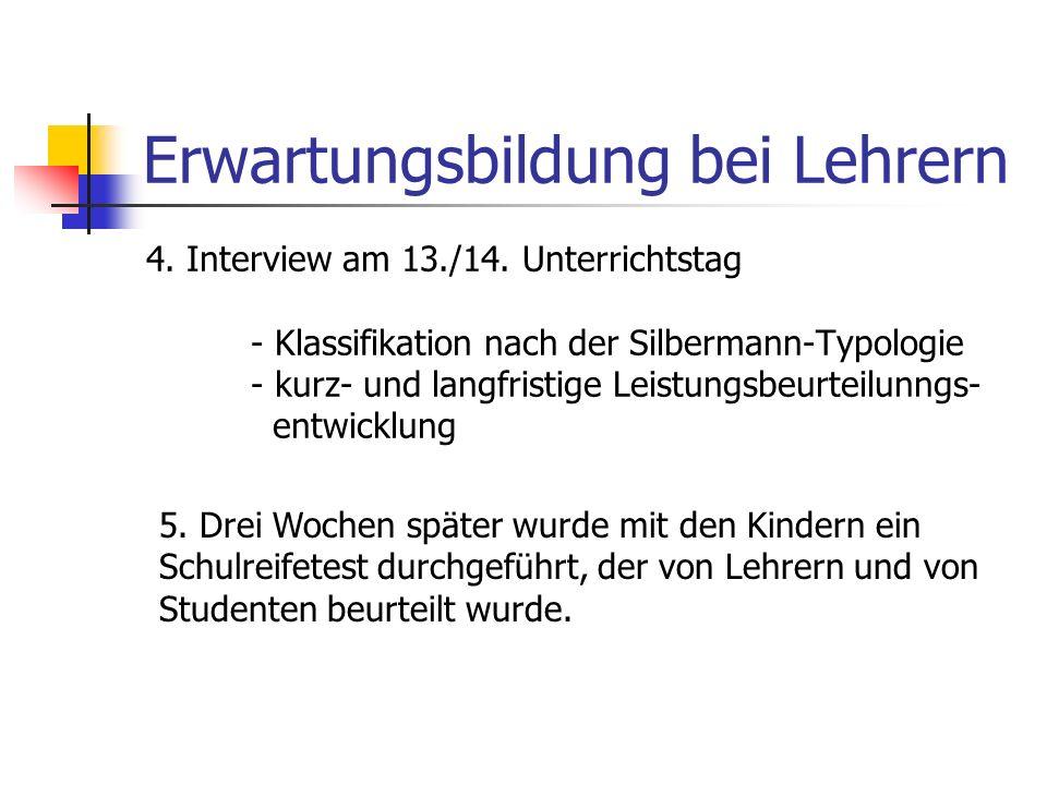 Erwartungsbildung bei Lehrern 3.