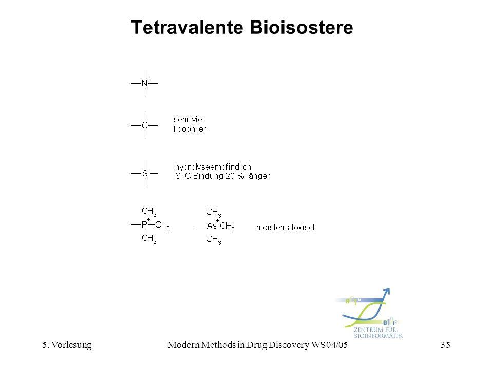5. VorlesungModern Methods in Drug Discovery WS04/0535 Tetravalente Bioisostere