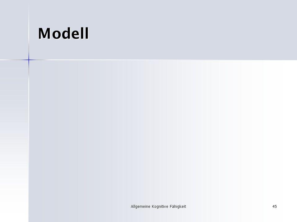 Allgemeine Kognitive Fähigkeit45 Modell