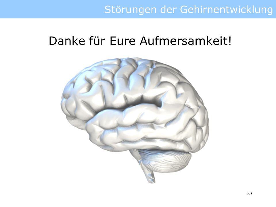 23 Störungen der Gehirnentwicklung Danke für Eure Aufmersamkeit!