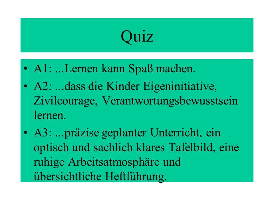 Quiz A1:...Lernen kann Spaß machen.