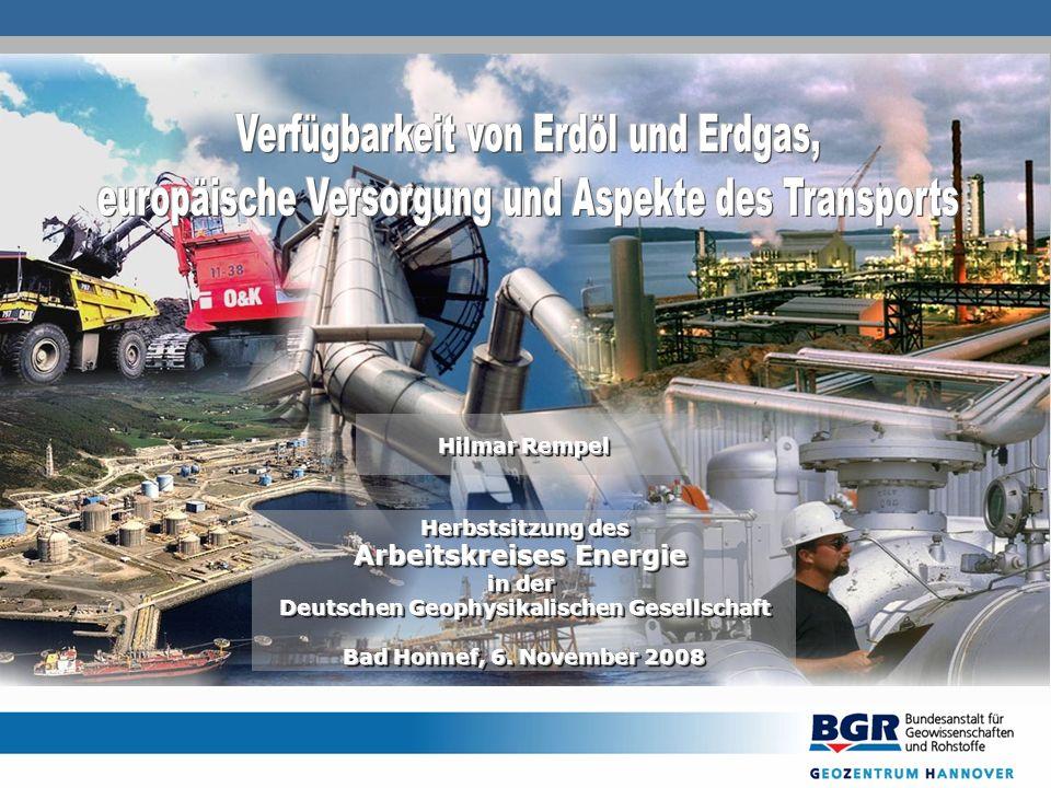 Hilmar Rempel Herbstsitzung des Arbeitskreises Energie in der Deutschen Geophysikalischen Gesellschaft Bad Honnef, 6.