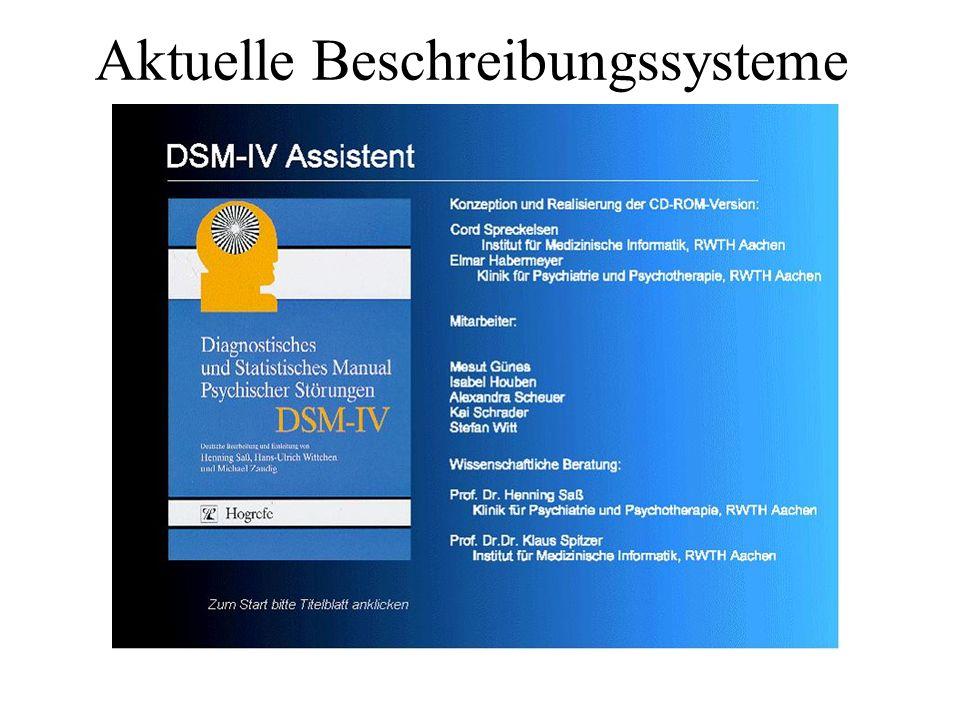 Aktuelle Beschreibungssysteme