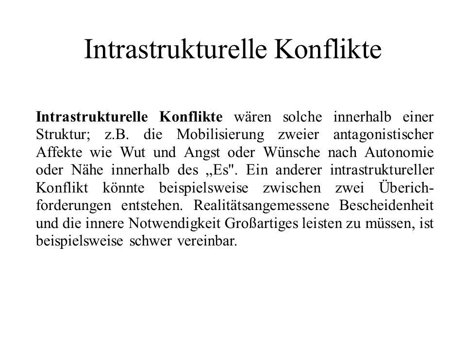 Intrastrukturelle Konflikte Intrastrukturelle Konflikte wären solche innerhalb einer Struktur; z.B.
