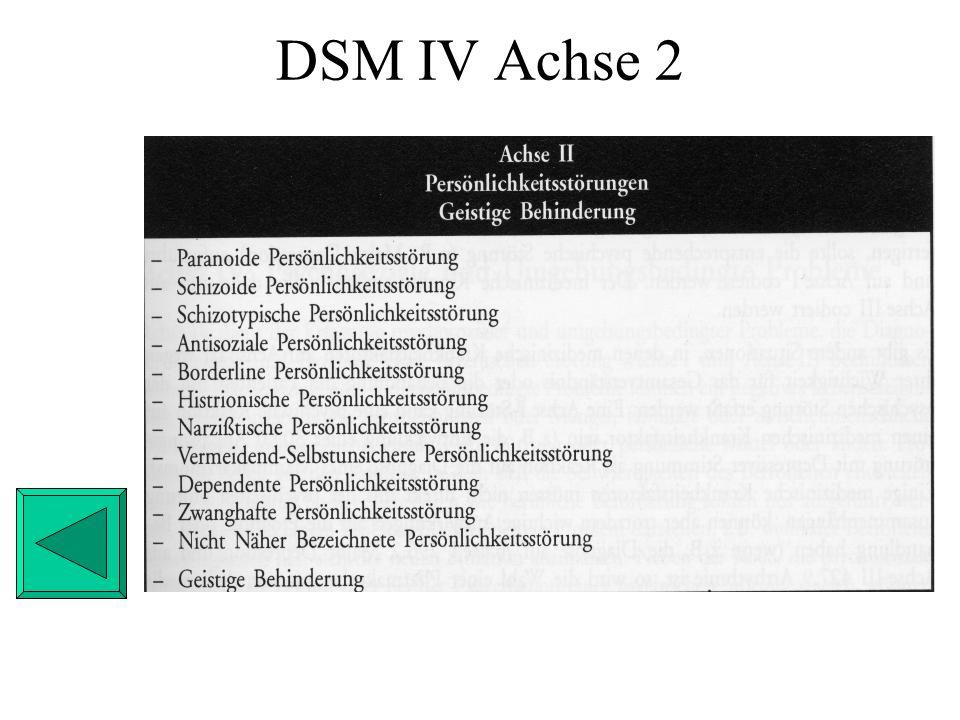 DSM IV Achse 2