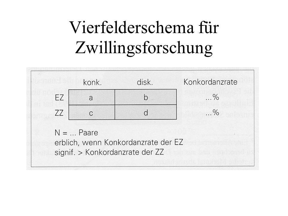 Vierfelderschema für Zwillingsforschung