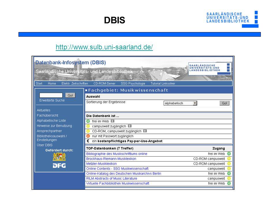 http://www.sulb.uni-saarland.de/