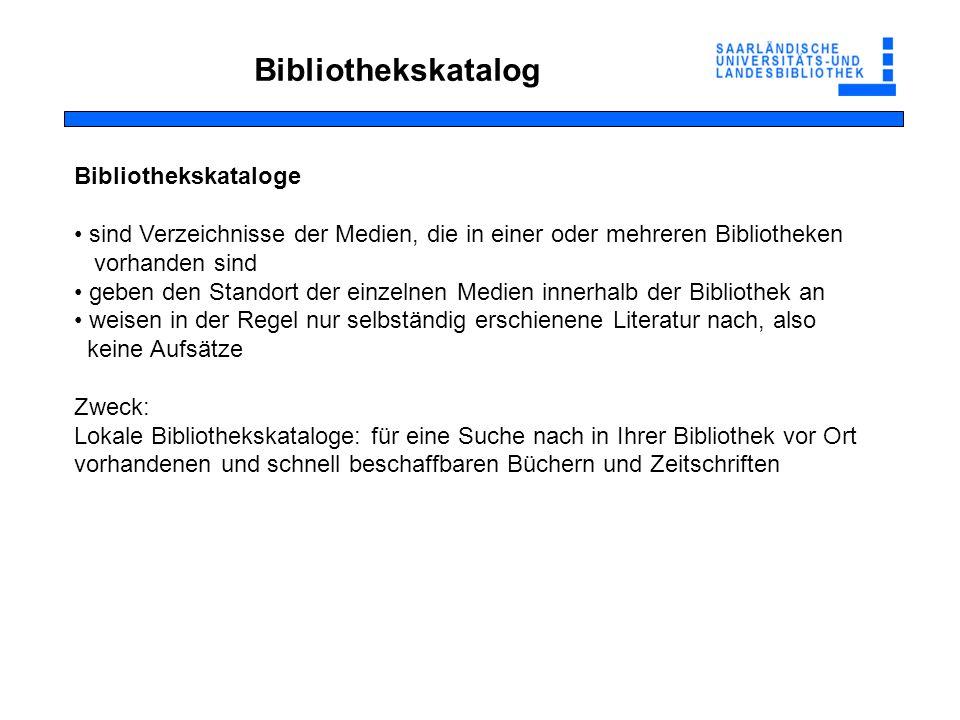 Recherche in Bibliothekskatalogen http://swb2.bsz-bw.de/DB=2.340/