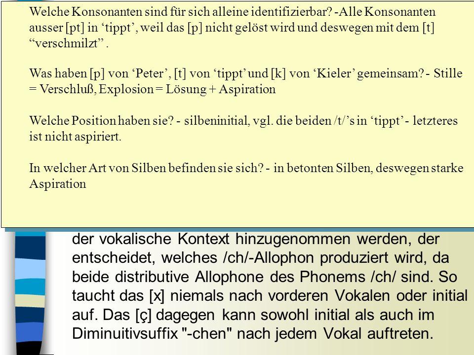 Sitzung 9 Welche Konsonanten sind für sich alleine identifizierbar.