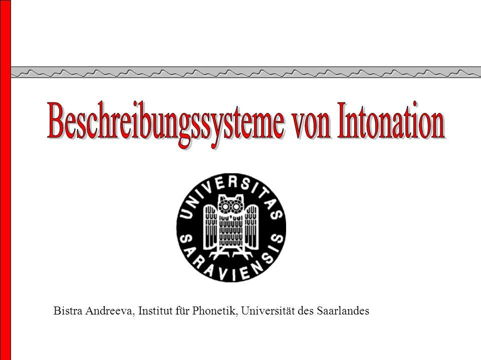 Bistra Andreeva, Institut für Phonetik, Universität des Saarlandes