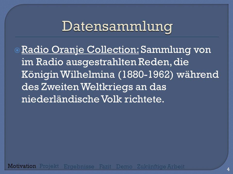 Radio Oranje Collection: Sammlung von im Radio ausgestrahlten Reden, die Königin Wilhelmina (1880-1962) während des Zweiten Weltkriegs an das niederländische Volk richtete.