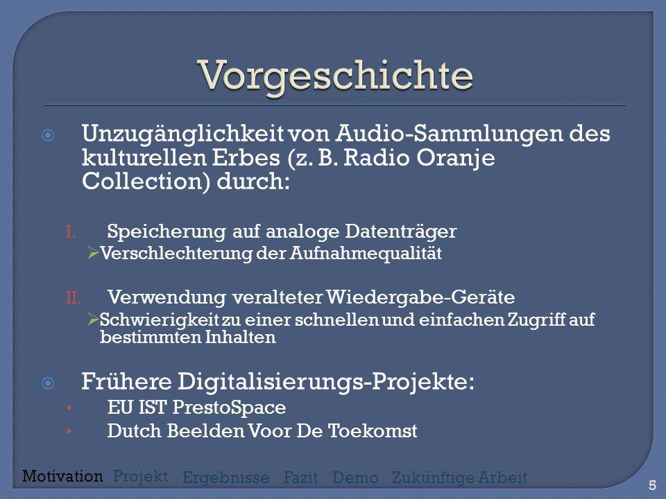 Unzugänglichkeit von Audio-Sammlungen des kulturellen Erbes (z.