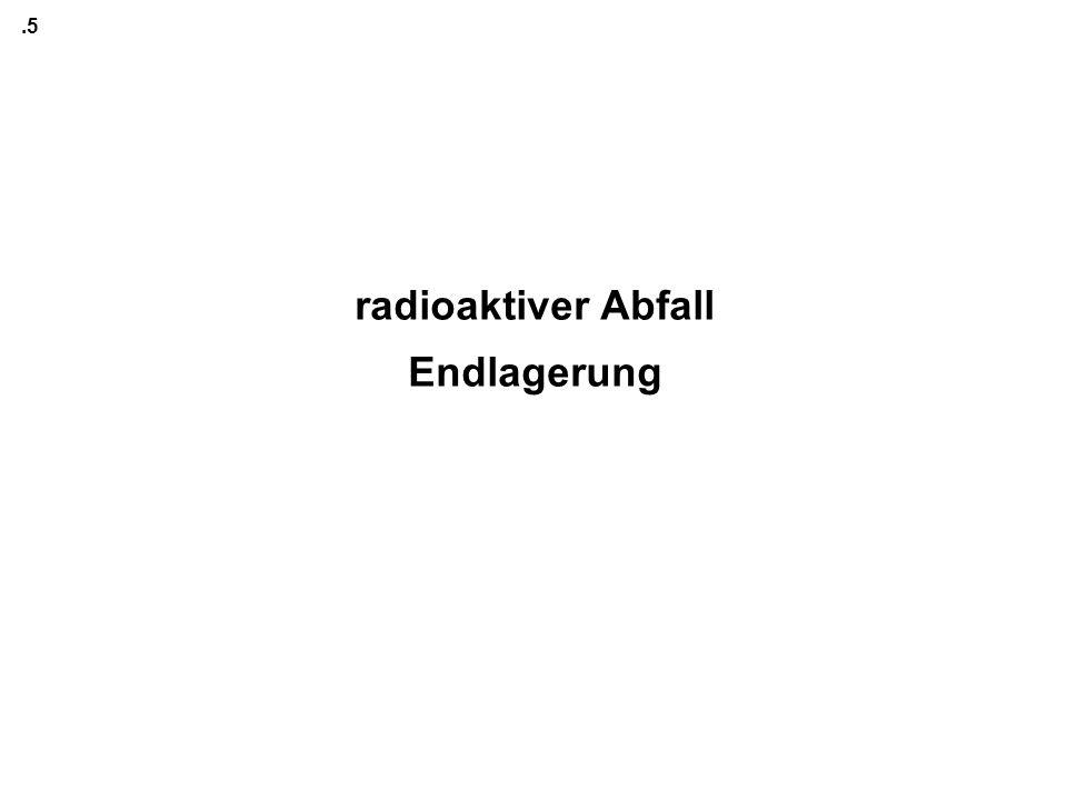 .5 radioaktiver Abfall Endlagerung