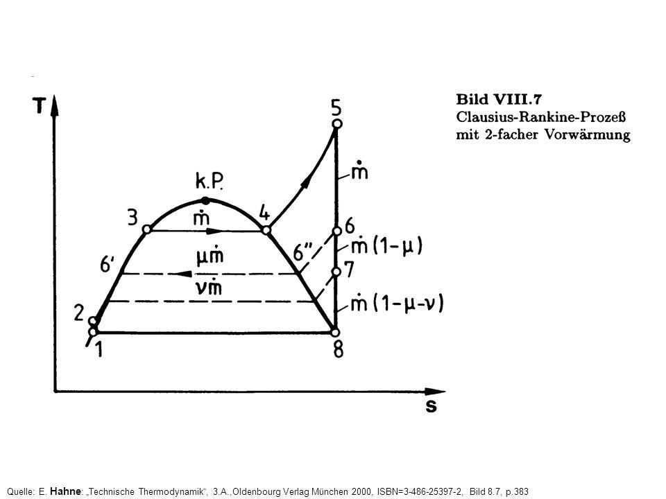 Quelle: E. Hahne : Technische Thermodynamik, 3.A.,Oldenbourg Verlag München 2000, ISBN=3-486-25397-2, Bild 8.7, p.383