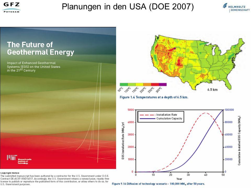 Geothermische Technologien für Strom, Wärme und Kälte, Ernst Huenges Arbeitskreis Energie DPG, Bad Honnef, 19.04.07 Wärmespeicher Energiemengen und Rückgewinnungsgrad