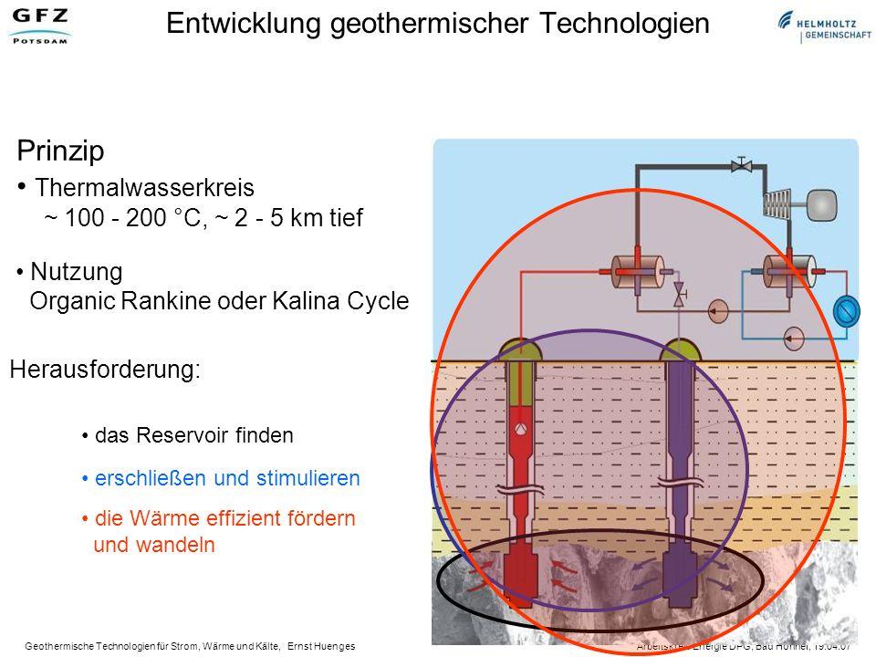 Geothermische Technologien für Strom, Wärme und Kälte, Ernst Huenges Arbeitskreis Energie DPG, Bad Honnef, 19.04.07 Hydrothermale Ressourcen in Deutschland
