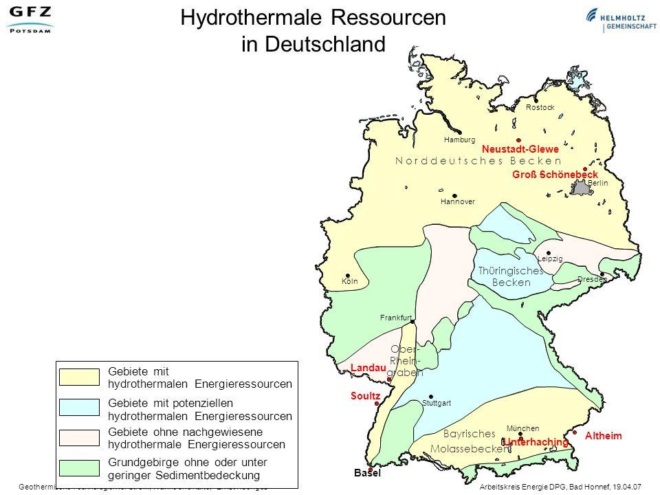 Geothermische Technologien für Strom, Wärme und Kälte, Ernst Huenges Arbeitskreis Energie DPG, Bad Honnef, 19.04.07 Systemwirkungsgrad ORC & Kalina 0 – 10 %