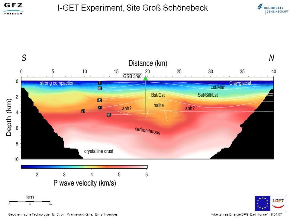 Geothermische Technologien für Strom, Wärme und Kälte, Ernst Huenges Arbeitskreis Energie DPG, Bad Honnef, 19.04.07 Abschätzung der Generatorleistung